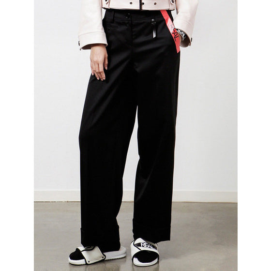 [CRES. E DIM.] REAL WIDE PANTS (BLACK)