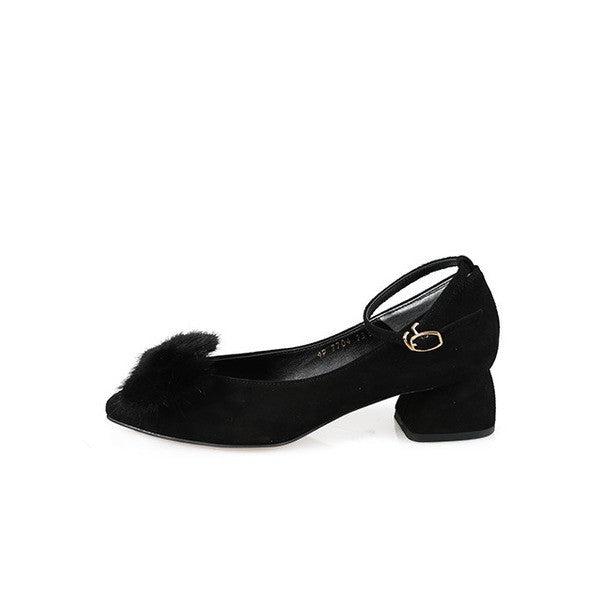 [giselle the bonni] mink ribbon black