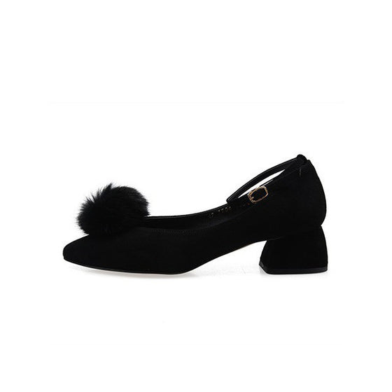 [giselle the bonni] Fox pom pom black