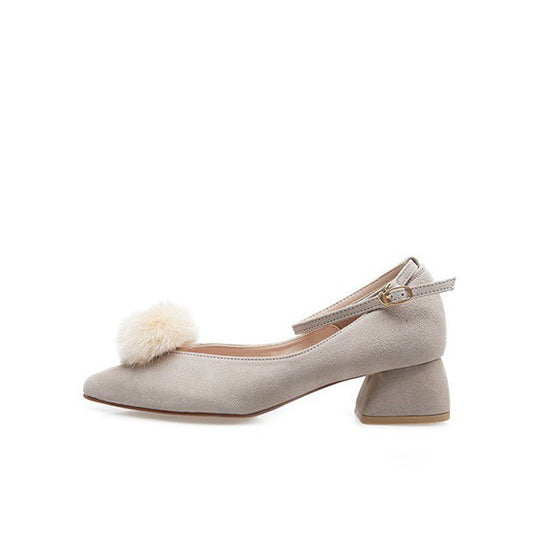 [giselle the bonni] Fox pom pom beige