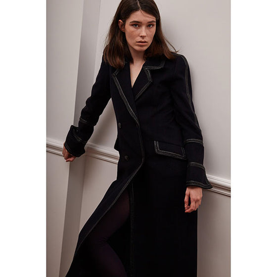 [Cahiers] Double Button Soldier Maxi Walker Coat