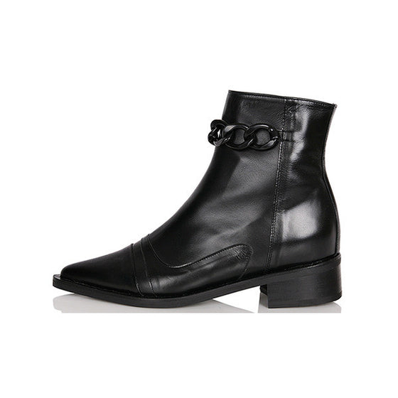 [YUUL YIE] CHAIN ANKLE BOOTS - Black