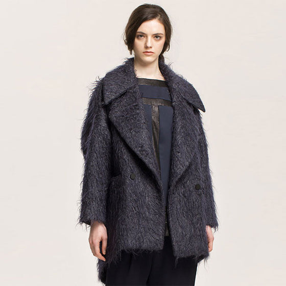 [Cahiers] Over Fit Mohair Coat