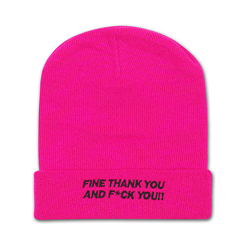 [EPICSODE] 2WAY THANK YOU BEANIE(PINK)