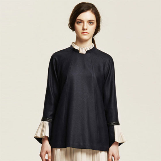 [Cahiers] Pleated Wrist Blouse