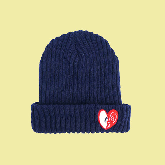 [bpb] MIX LUV BEANIE (NAVY)