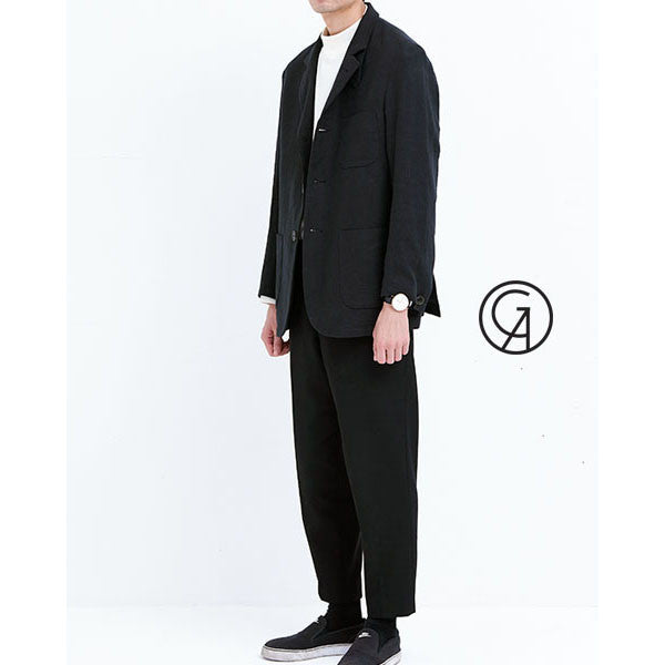 [GOLDENAI] Biowashing Linen Jacket - Black