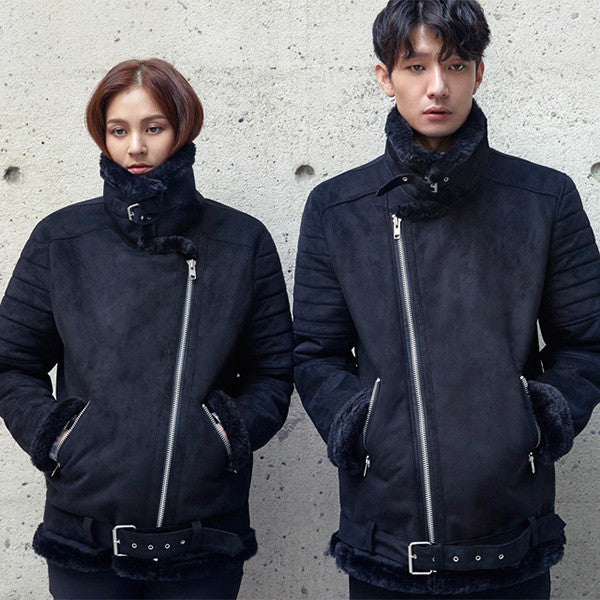[GOLDENAI] Unisex Mouton Rider Jacket