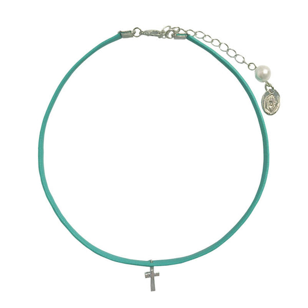 [bpb] Mint cross choker