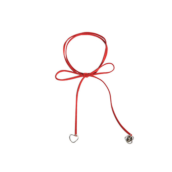 [bpb] Love ribbon choker - red