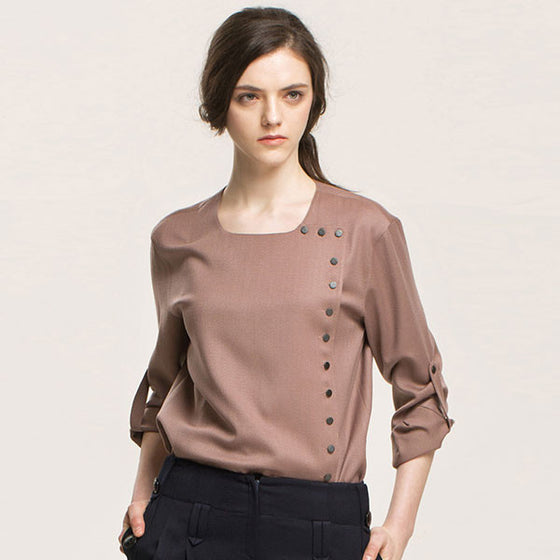 [Cahiers] One Way Button Blouse
