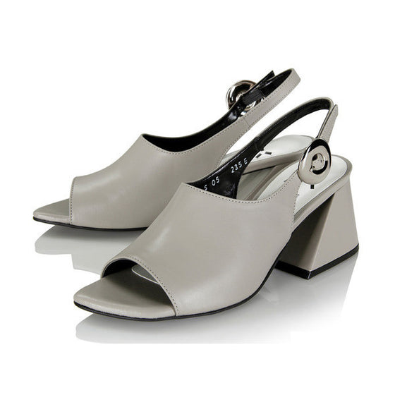 [YUUL YIE] ONE DOUGHNUT BUCKLE SLINGBACK NEW COLOR - Gray