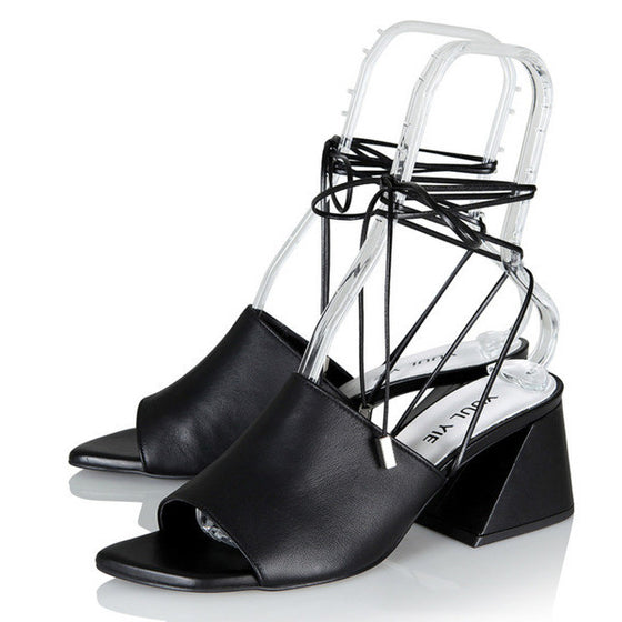 [YUUL YIE] BREEZE STRING SANDAL - Black