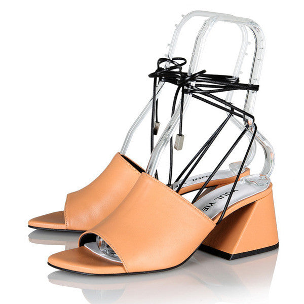 [YUUL YIE] BREEZE STRING SANDAL - Light Tangerine