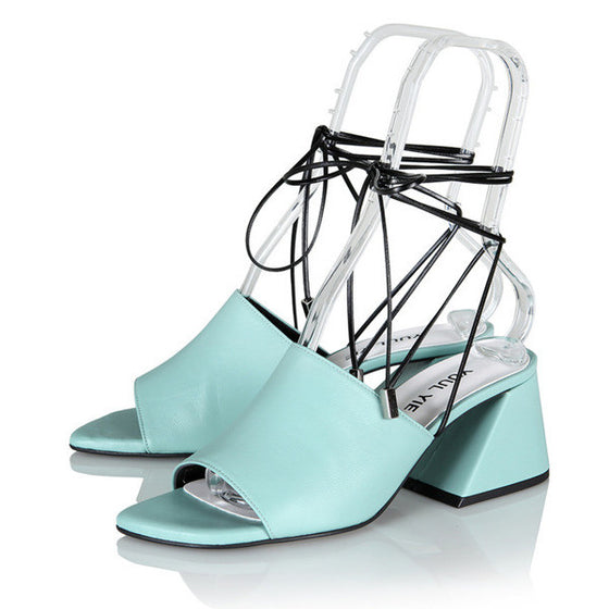 [YUUL YIE] BREEZE STRING SANDAL - Mint