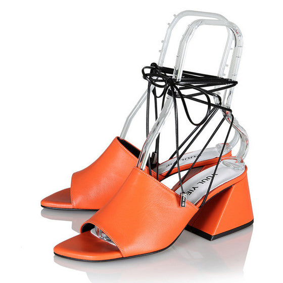 [YUUL YIE] BREEZE STRING SANDAL - Orange