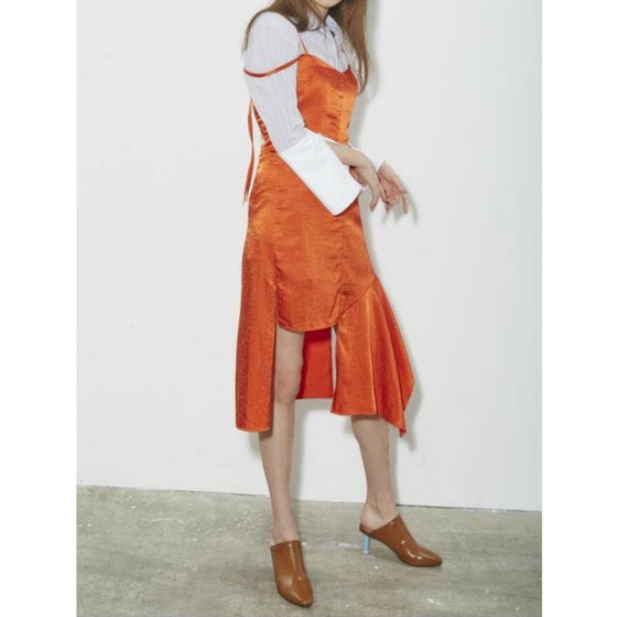 [2nd SWBD] Bustier Slip Dress - ORANGE
