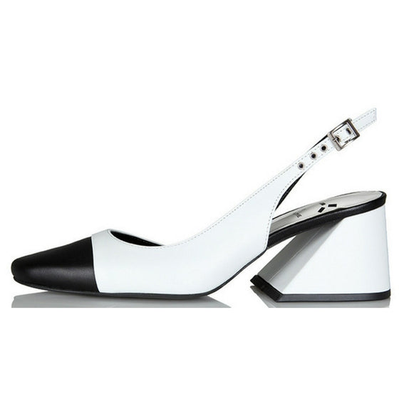 [YUUL YIE] CREAM SLING BACK - White 6cm