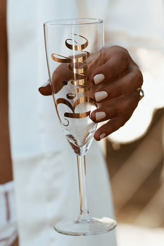 BRIDE - Foiled Champagne Glass