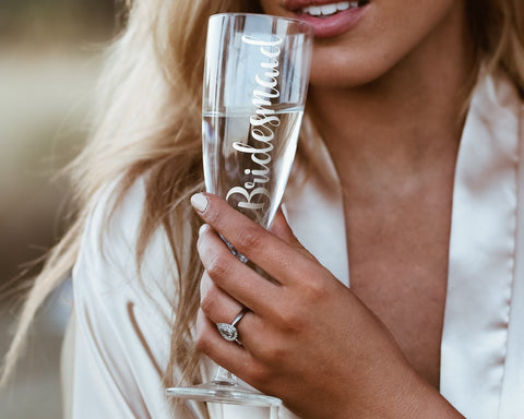 BRIDESMAID - Foiled Champagne Glass