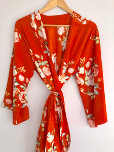 Floral Chic - Burnt Orange