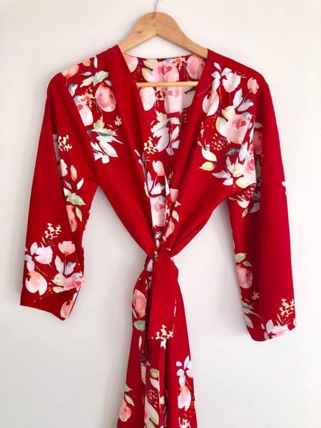 Floral Chic - Cranberry