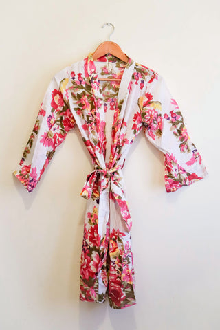 FLORAL WHITE PINK