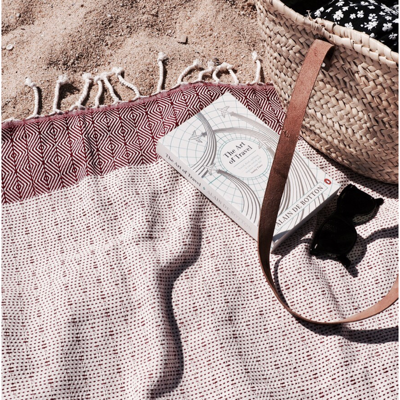 Handwoven Beach Towel - Damar Mizar & Alcor - La Flora Sagrada