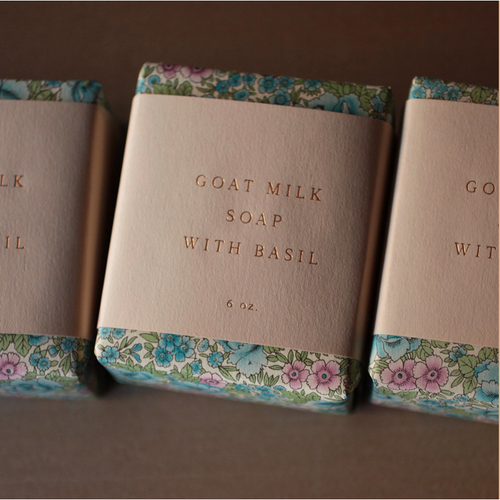 Goat Milk Soap with Basil Saipua - La Flora Sagrada