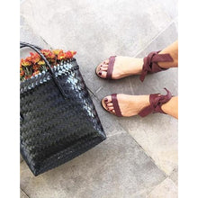 Leather Wrap Sandal - Bordeaux