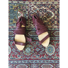 Leather Wrap Sandal - Bordeaux Unique Allure - La Flora Sagrada