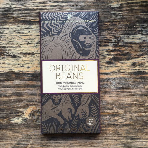 Cru Virunga 70% - Vegan Bean to Bar Chocolate Original Beans - La Flora Sagrada