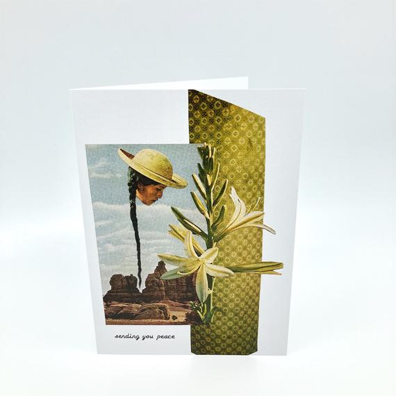 Greeting Card Roaming Barefoot - La Flora Sagrada