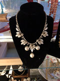 Pearl and Rhinestone totally Glam Vintage Necklace
