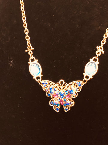 Multi Colored Butterfly Necklace