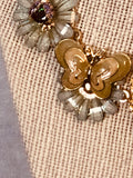 Butterfly Snail Necklace- Vintage Repurposed Necklace
