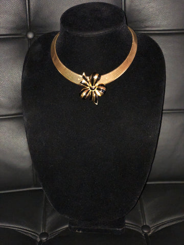 Joan Rivers Bow on Monet necklace, vintage necklace