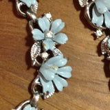 Vintage 1955 Crown Trifari Fleurette Pastel Enamel Flower Posies Bracelet Clip Earrings