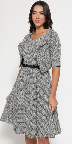 Clara Pink Geometric Turtle Neck Dress