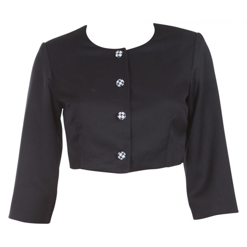 Alice Button Bolero (Short Jacket) Black
