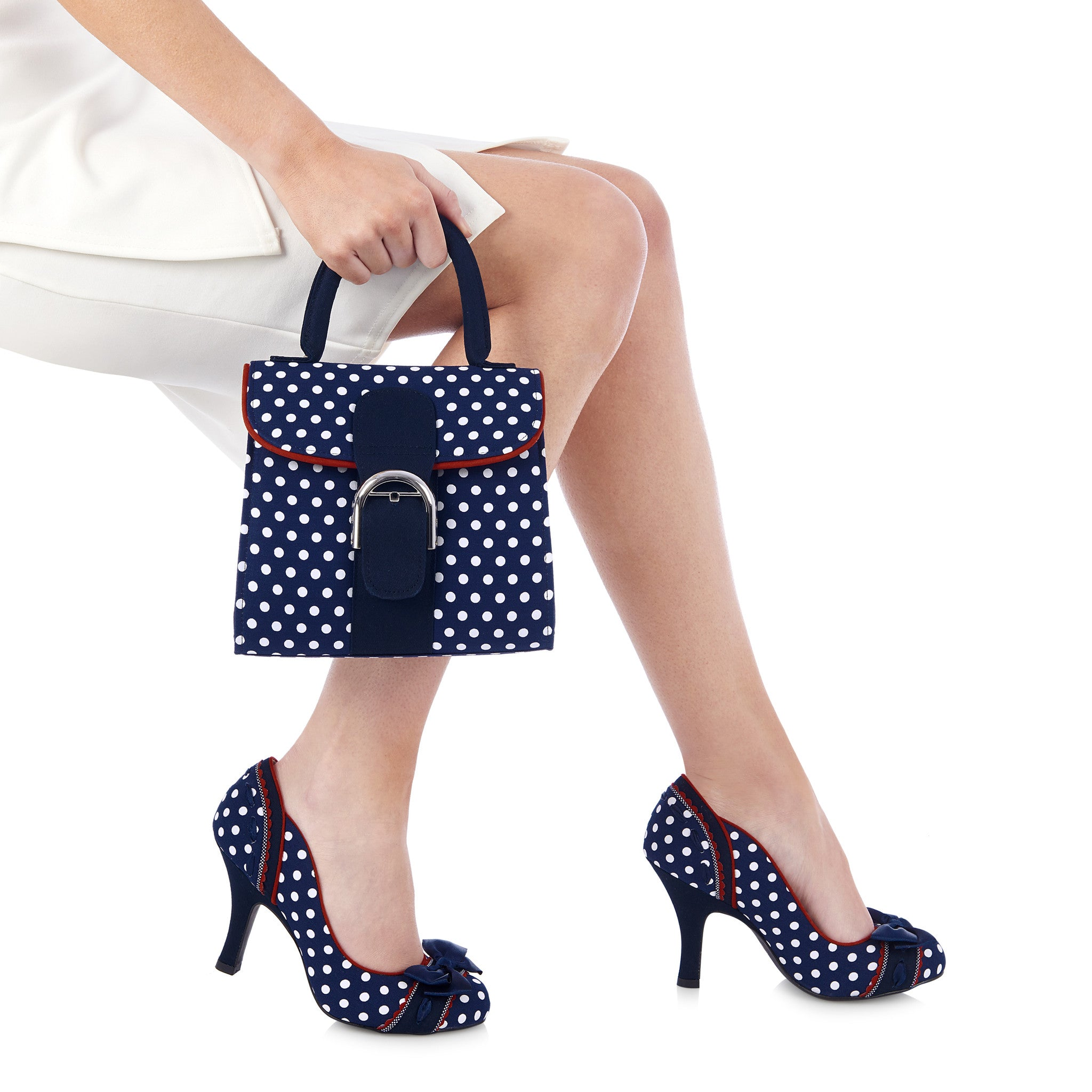 Ruby Shoo Amy (Navy Spots)