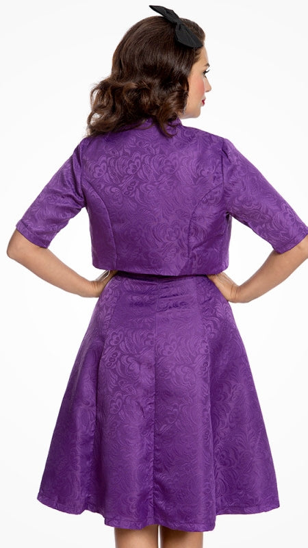 Angelique Purple Swing Dress and Jacket Set