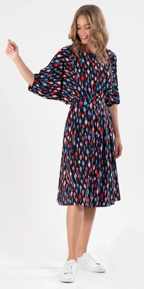 Anna Multicolour Batwing Dress