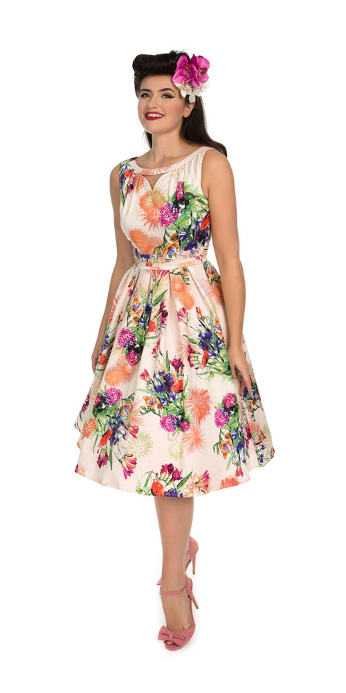 Anna Multi Floral Swing Dress