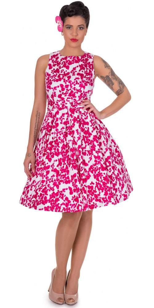Annie Retro Floral Swing Dress