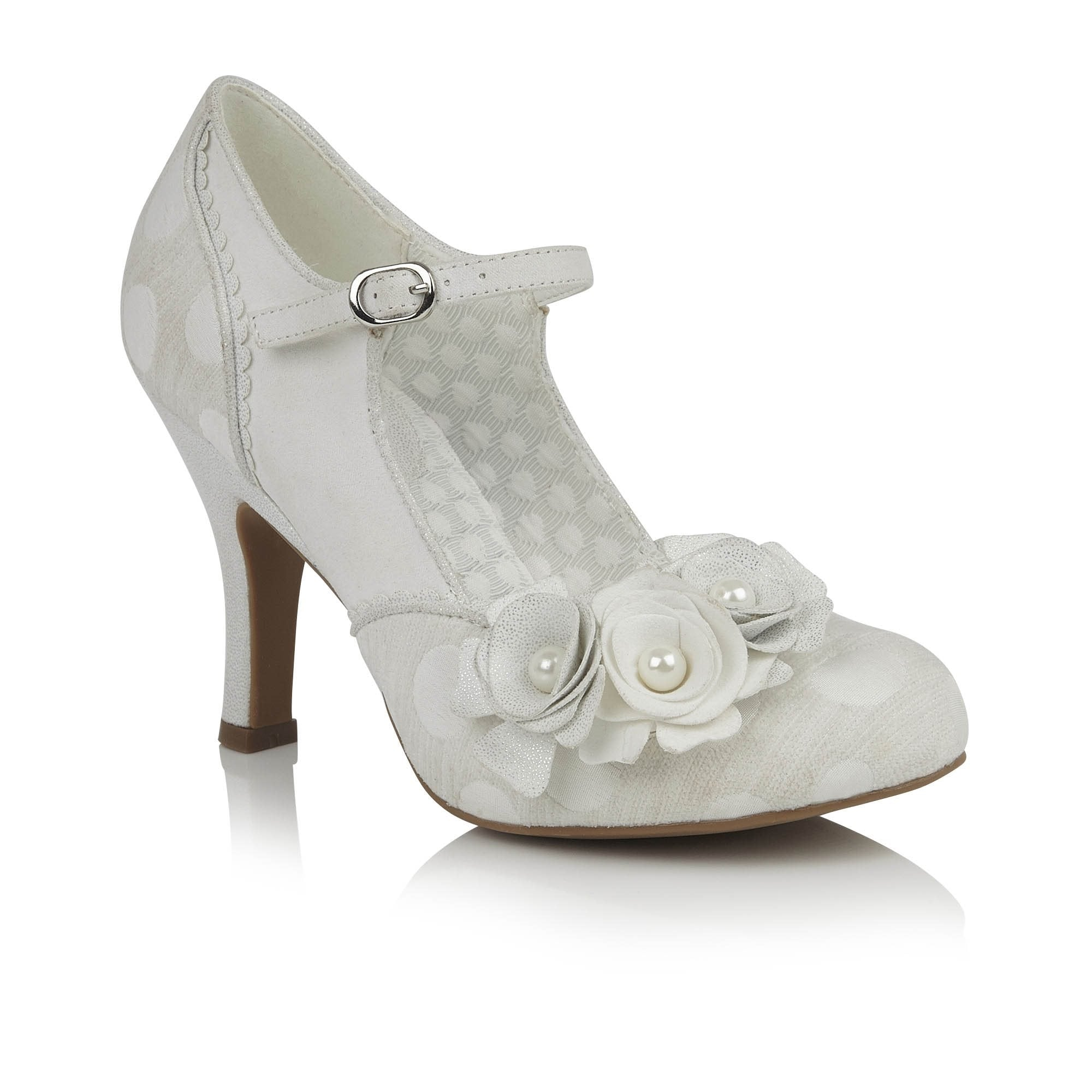 bc080f11db79b Ruby Shoo Antonia (White/Silver) – Rock Frocks