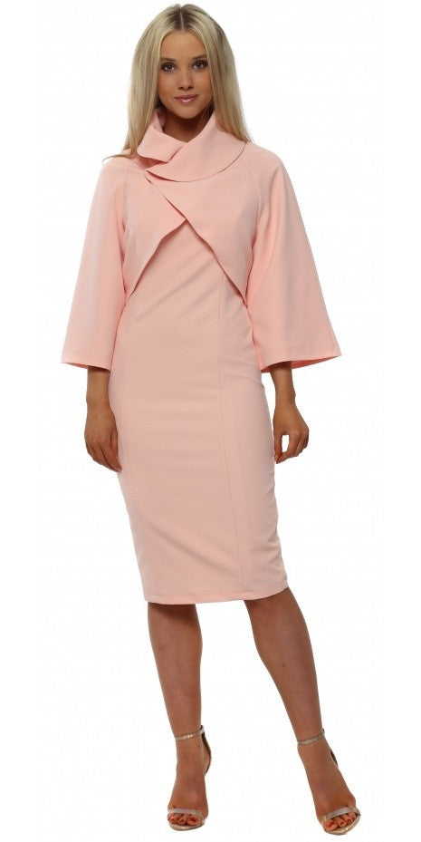 Cropped Jacket & Dress Suit  - Soft Pink