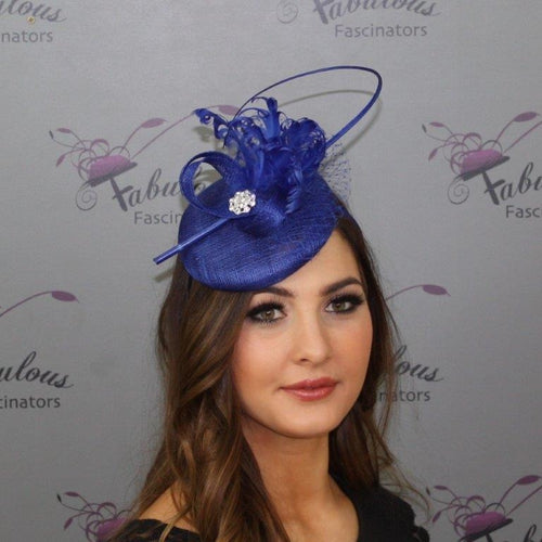 Bailey Fascinator Cobalt Blue