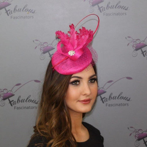 Bailey Fascinator Fuchsia
