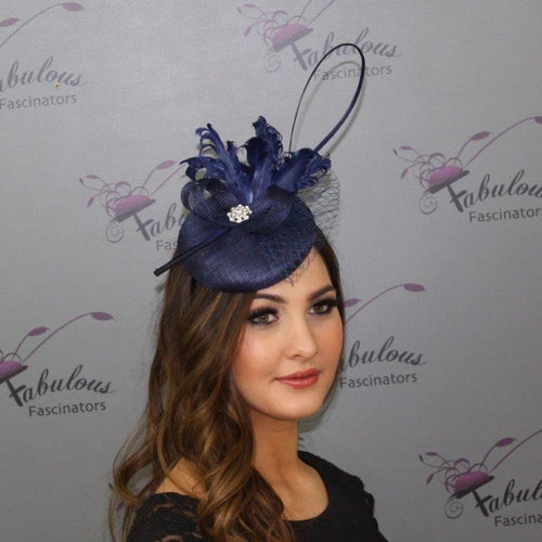 Bailey Fascinator - Navy